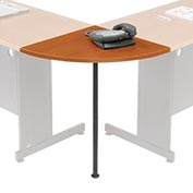 "Interion™ Rounded Corner Tabletop with Support Post, 24"" Radius, Cherry"