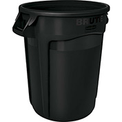 Rubbermaid Brute® Container w/Venting Channels, 32 Gallon - Black 1867531
