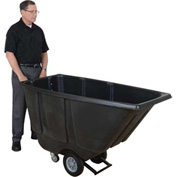 Wesco® 272580 1/2 Cu. Yd. Black Tilt Truck with Fork Pockets 850 Lb. Cap.