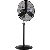 Outdoor Oscillating Pedestal Fan, 24 Inch Diameter, 3/10HP, 7700CFM