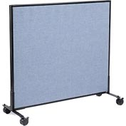 "Interion™ Mobile Office Cubicle Partition Panel, 48-1/4""W x 45""H, Blue"