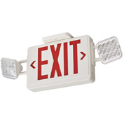 Lithonia ECR LED HO Combo Exit Sign, Red Letters, High Output