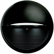 Lithonia OLSR DDB, Outdoor LED Round Step Light, Dark Bronze