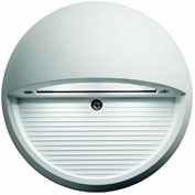 Lithonia OLSR WH, Outdoor LED Round Step Light, White