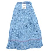 Global™ Small Blue Looped Mop Head, Narrow Band