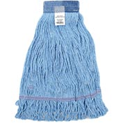 Global™ Small Blue Looped Mop Head, Wide Band