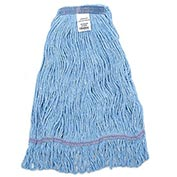 Global™ Large Blue Looped Mop Head, Narrow Band