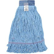 Global™ Large Blue Looped Mop Head, Wide Band