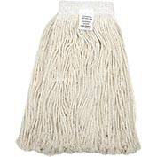 Global™ 24 oz. Cotton Cut-End Mop Head, 4Ply, Wide Band