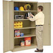 Global™ Storage Cabinet Assembled 48x18x78 Tan