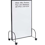 "Mobile Office Partition Panel with Whiteboard, 36-1/4""W x 63-1/2""H"