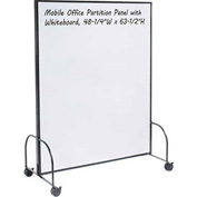 "Mobile Office Partition Panel with Whiteboard, 48-1/4""W x 63-1/2""H"
