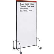 "Deluxe Mobile Office Partition Panel with Whiteboard, 36-1/4""W x 77""H"