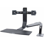 Ergotron® WorkFit-A, Dual Monitor Sit-Stand Workstation