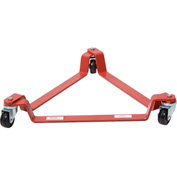 Modern Equipment MECO T3P 55 Gallon Triangular Drum Dolly Polyolefin Casters