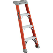 Louisville 4' Type 1A Fiberglass Pro Shelf Step Ladder - FH1504