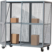 Optional Middle Shelf for Modern Equipment MECO Open Mesh Steel Security Truck 60x24 Yellow