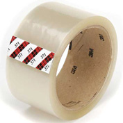 "3M™ 371 Carton Sealing Tape 2"" x 55 Yds. 1.9 Mil Clear - Pkg Qty 6"