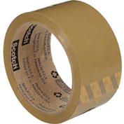 "3M Carton Sealing Tape 371 2"" x 110 Yds 1.9 Mil Tan - Pkg Qty 6"