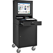 Mobile Security LCD Computer Cabinet Enclosure - Black (Assembled)