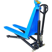 Manual High Lift Skid Jack Truck with Scale 3000 Lb. Cap.