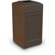 42 Gallon Square Waste Receptacle - Brown
