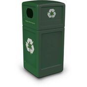 42 Gallon Square Recycling Plastic Container - Green