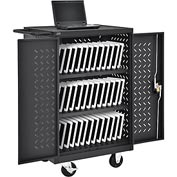 Mobile Storage & Charging Cart for 36 iPad® Tablet Devices, Black