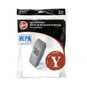 Hoover® Type Y HEPA Bag for U5140900, U6485900, CH53005, C1703-900 Vacs, 2/Pk - AH10040