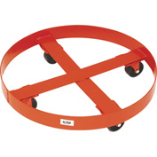 "Modern Equipment MECO 433S Round Drum Dolly for 30 Gal. Drums 3"" Steel 1200 Lb."