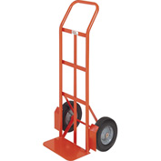 Modern Equipment MECO 210SP Curved Handle Hand Truck Semi-Pneumatic 500 Lb.