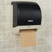 "Global™ Plastic Automatic Roll Paper Towel Dispenser - 8"" Roll, Smoke Gray/Beige Finish"