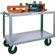Modern Equipment MECO HSC34-25 Husky 2 Shelf Service Cart 34x60 Phenolic 4000 Lb.