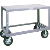 Modern Equipment MECO 5MS305-1 Mobile Steel Table 1 Shelf 30x60 Rubber 1400 Lb.