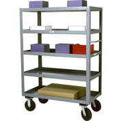 Modern Equipment MECO SC3672-5 Five Shelf Service Cart 36x72 Rubber 800 Lb.