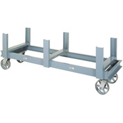"Modern Equipment MECO BST-SS Bar Storage Truck 84""L Steel Wheels 5600 Lb."
