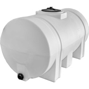 RomoTech 325 Gallon Plastic Storage Tank 82124259 - Round with Leg Supports