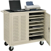 Mobile Storage & Charging Cart for 24 Laptop & Chromebook™ and Tablets, Putty, Assembled