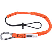 Stanley Black & Decker JLAN15LBSSRP Proto Elastic Lanyard with Screw Gate Carabiner - 15 lb.