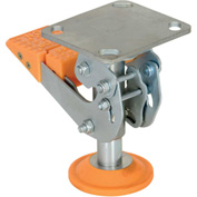"Vestil Floor Lock with Polyurethane Foot Pad FL-LKH-6 for 6"" Casters"