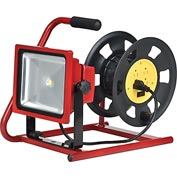 Global™ Combo LED Flood Light & Cord Reel, 30W, 2800 Lumens, Red
