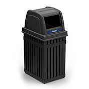 ArchTec Parkview Single Trash Container - Black, Square Opening 72740199