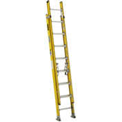 Werner 16' Type 1AA Lightweight Fiberglass Extension Ladder 375 lb. Cap - D7216-2