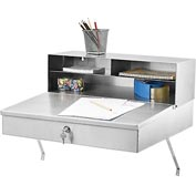 "Stainless Steel Wall Mounted Receiving Desk 24""Wx22""Dx12""H"