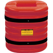 "Eagle Column Protector, 12"" Column Opening, 24"" High, Red, 1724-12-RED"