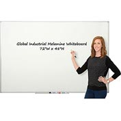 Melamine Dry Erase Whiteboard - 72 x 48 - Double Sided