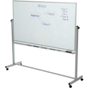 Rolling Magnetic Dry Erase Whiteboard - Double Sided Reversible - 96 x 40