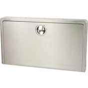 Koala Kare® Horizontal Baby Changing Table Wall Mounted - Stainless Steel KB110-SSWM