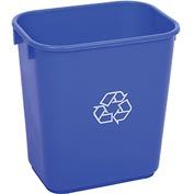 Global™ 13-5/8 Qt. Plastic Recycling Wastebasket - Blue