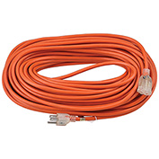 Global™ 100 Ft. Outdoor Extension Cord w/ Lighted Plug, 16/3 Ga, 10A, Orange